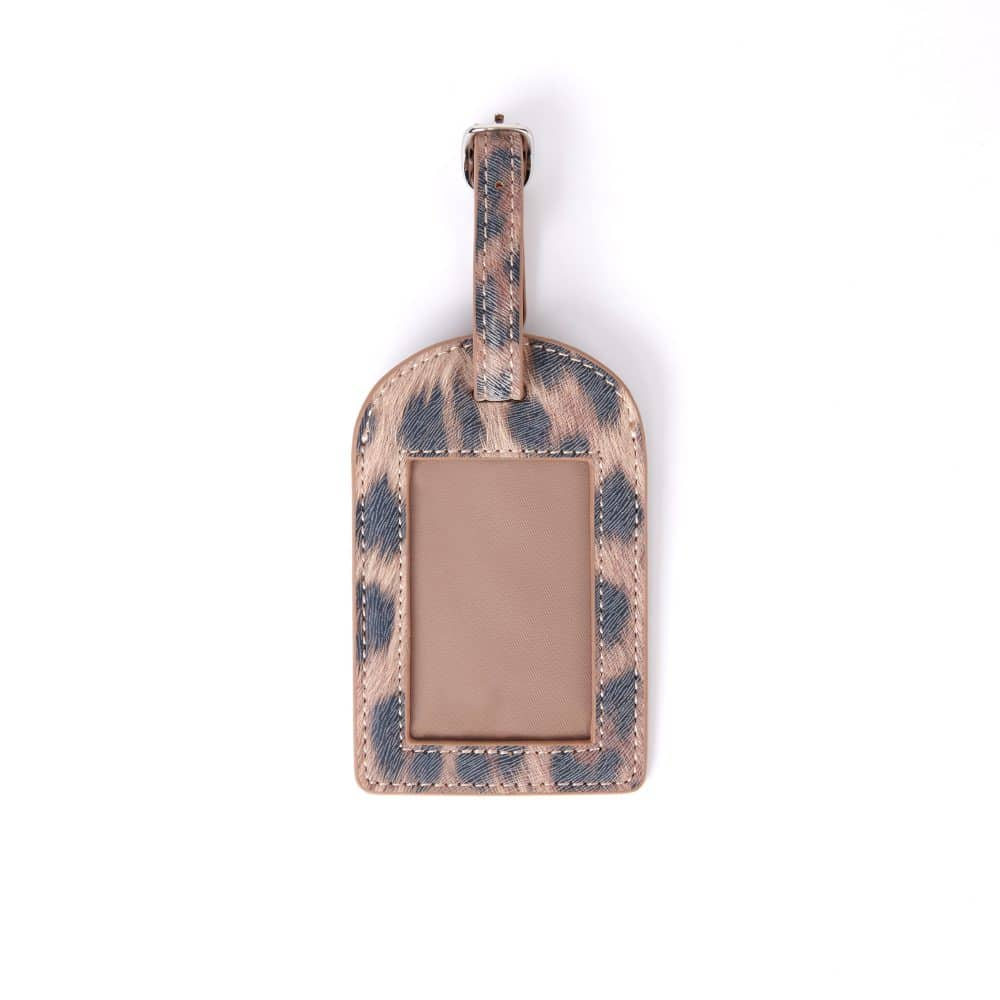 Front of Leopard Print Luggage Tag