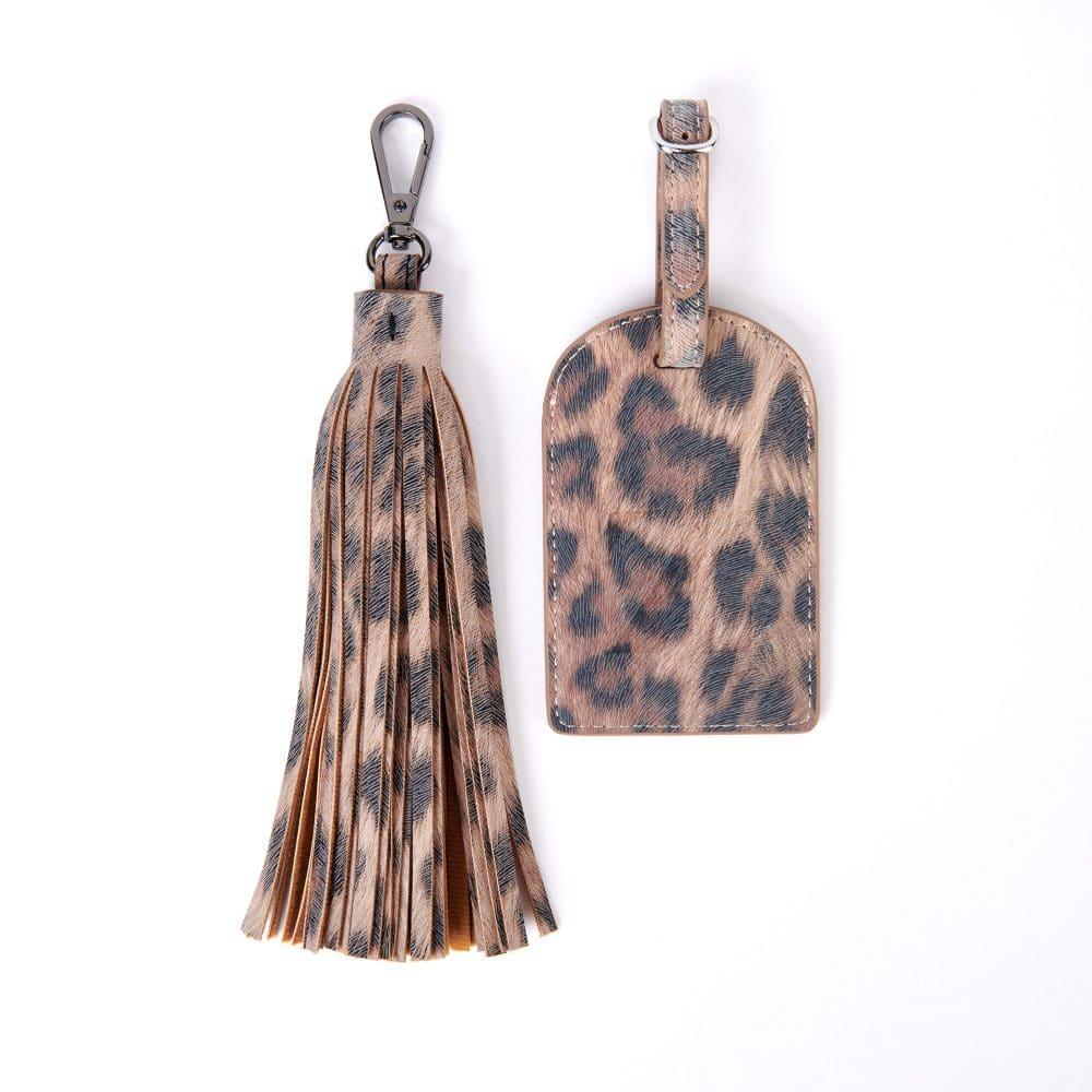 Leopard Print Tassel and Tag