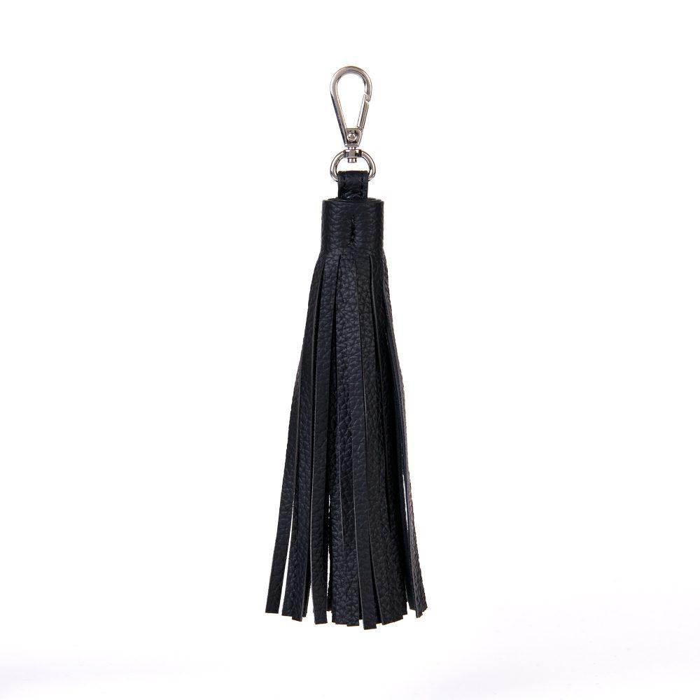 Vegan Leather Oversized Clip On Bag Tassel